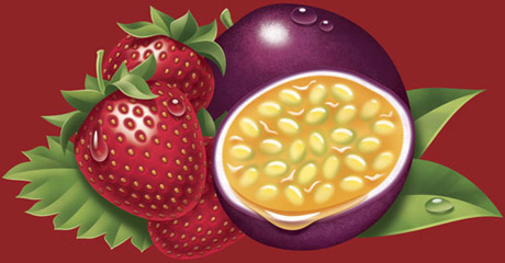 Strawberry Passion Fruit Art